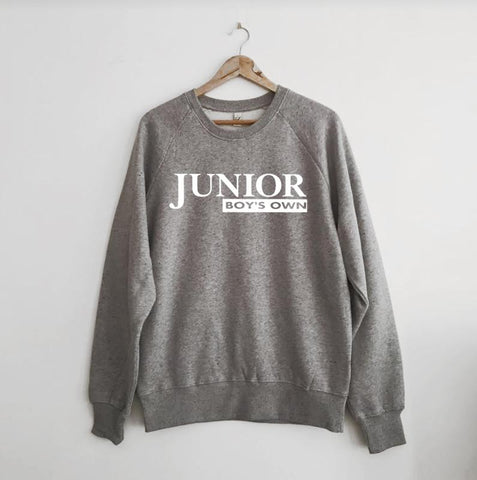 Junior Boys Own Logo Grey Marl Sweatshirt Medium