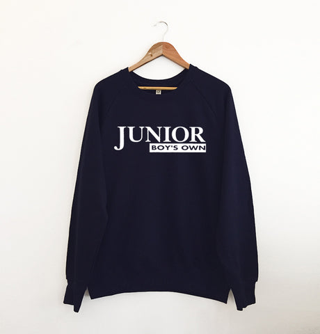 Junior Boys Own Logo Navy Sweatshirt XL