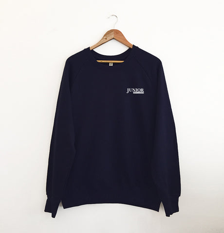 Junior Boys Own Small Logo Navy Sweatshirt