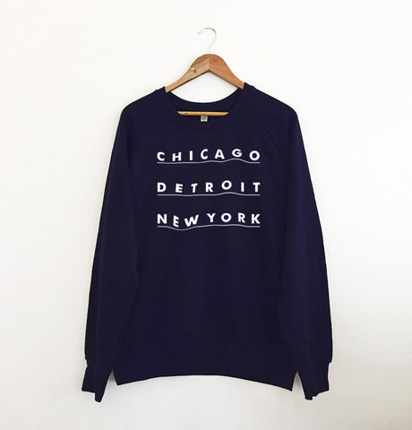3 Cities Sweatshirt Navy
