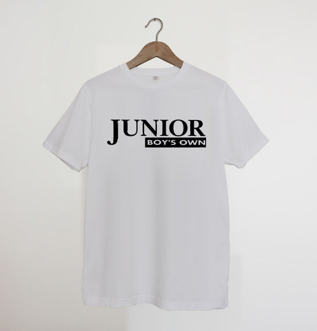 Junior Boys Own Logo White