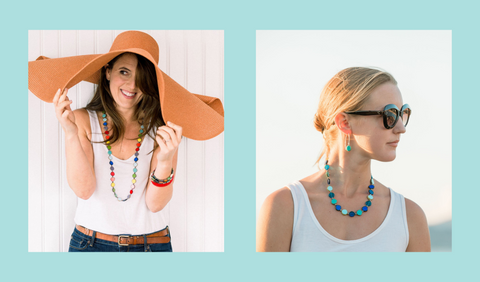 Necklace lengths to wear with a scoop neck top