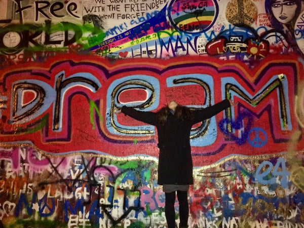 Dare to Dream (at the John Lennon wall in Prague)