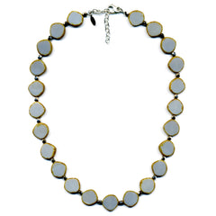 Full Circle Necklace in Gray