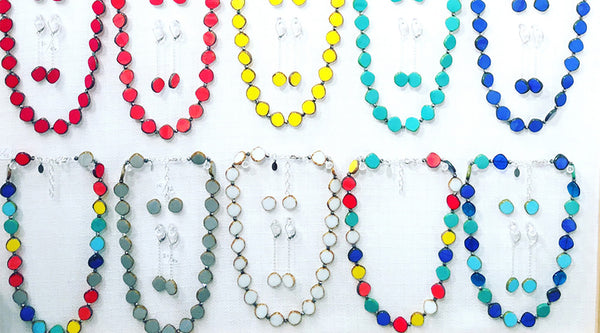 Stefanie Wolf Colorful Artisan Jewelry Martha's Vineyard Full Circle Edgartown