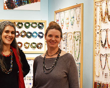 Kathryn and Stefanie at Stefanie Wolf Designs Booth at NY NOW show