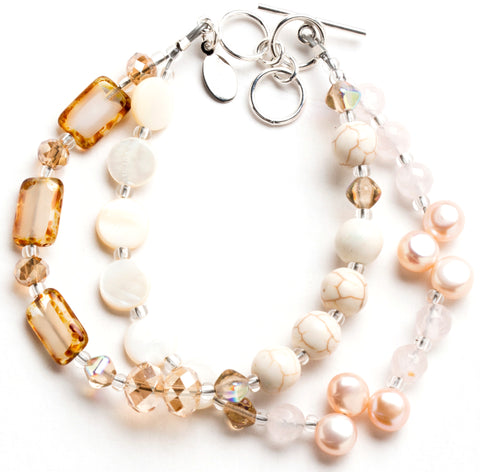 Martha's Vineyard Wedding Inspiration -- Stefanie Wolf Champagne Medley Handmade Jewelry