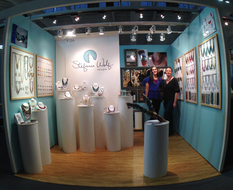 Kathryn and Stefanie in booth at NY NOW trade show