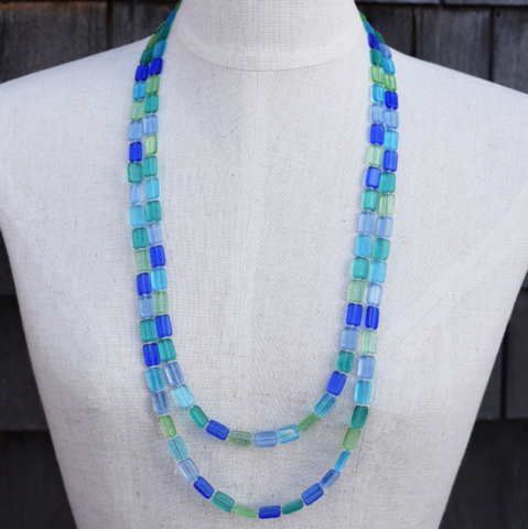 long beaded necklace trilogy