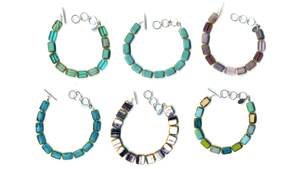 Six Trilogy Bracelets by Stefanie Wolf, Martha's Vineyard