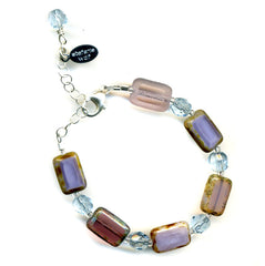 Little Girls Bracelet in Pretty Purple by Stefanie Wolf, Martha's VIneyard
