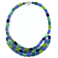 Lagoon 3-Strand Necklace Trilogy Stefanie Wolf Martha's Vineyard