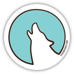Wolf Moon Full Moon Logo Sticker Stefanie Wolf