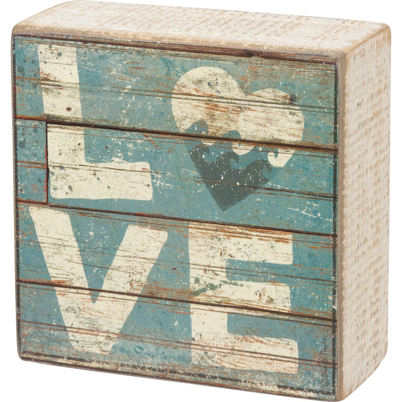 Box Sign, Love with Waves and Heart
