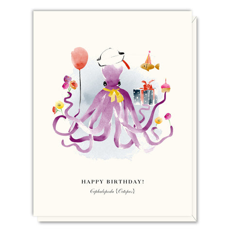 Birthday Octopus Greeting Card