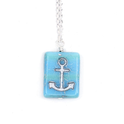 Anchor Pendant Necklace on Sterling SIlver, Limited Edition
