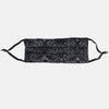 Reversible Pleated Face Mask with Nose Wire, Black and Gray Patterned