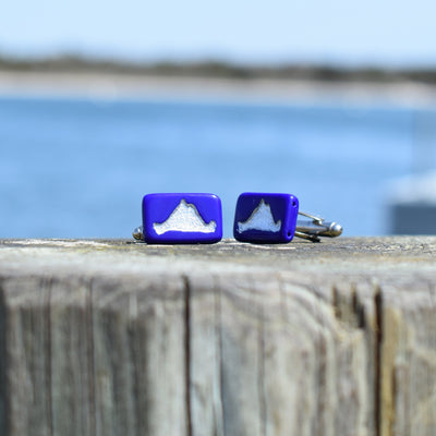 Island Cufflinks, Martha's Vineyard Tile