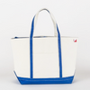 Canvas Boat Tote, Large, Cobalt