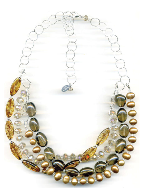Sandy Topaz Multistrand Necklace