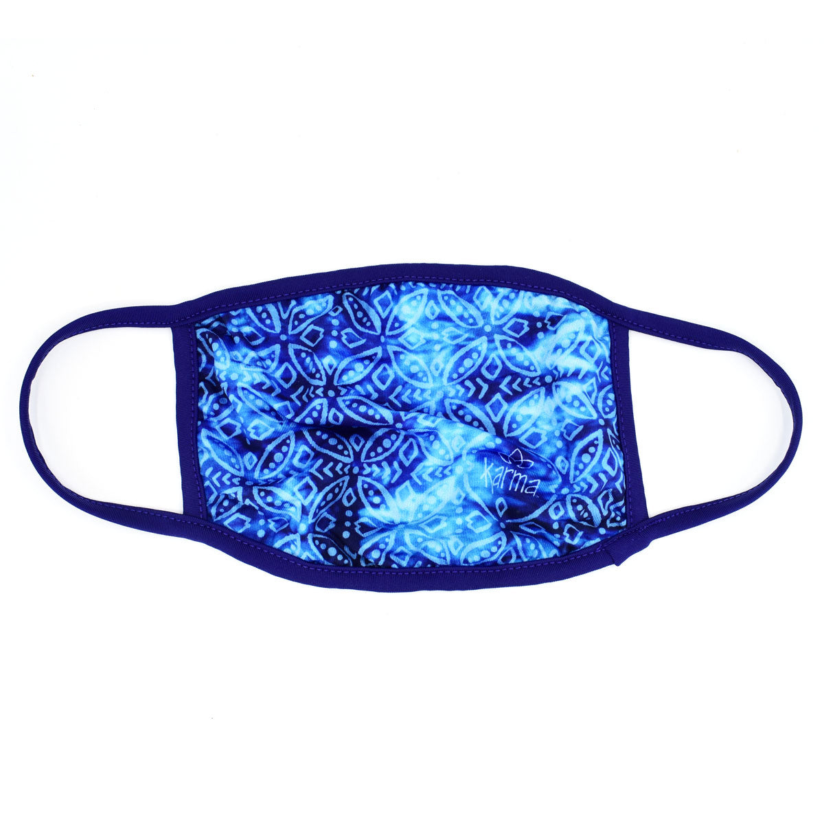Face Mask, Indigo Medallion