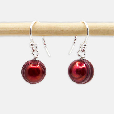 Classic Freshwater Pearl Necklace and Earring Set, Pomegranate, Limited Edition