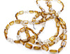Crystal Trilogy Necklace in White Swirl with Champagne Glass Crystals, 60""