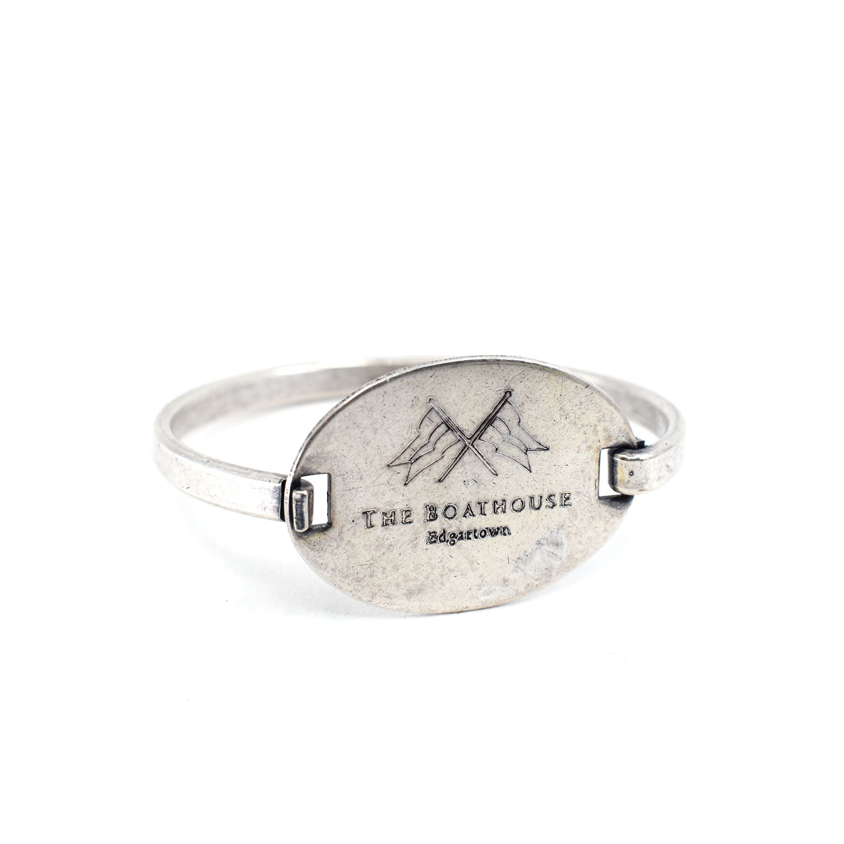 The Boathouse Flip Top Bracelet in Silver Plate