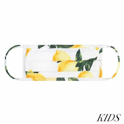 Kids Face Mask, Lemon Print