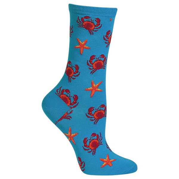 Socks with Starfish and Crabs