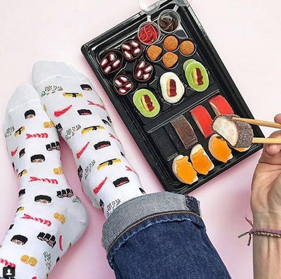 Socks with Sushi Design