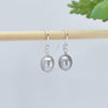 Classic Freshwater Pearl Earrings, Soft Silvery Grey, Limited Edition