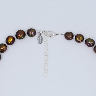 Classic Freshwater Pearl Necklace, Bronze, Limited Edition
