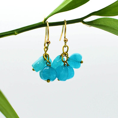 Rock Candy Earring, Blue Cluster