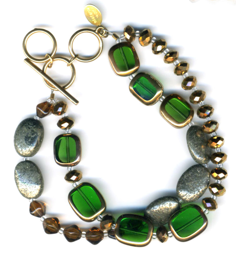 Stained Glass 2-Strand Bracelet, Sample Sale