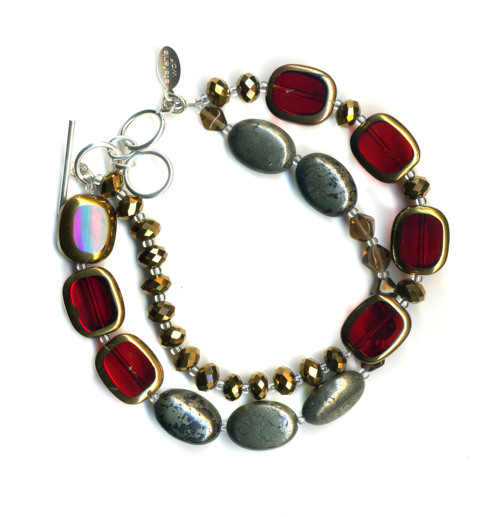 Stained Glass 2-Strand Bracelet