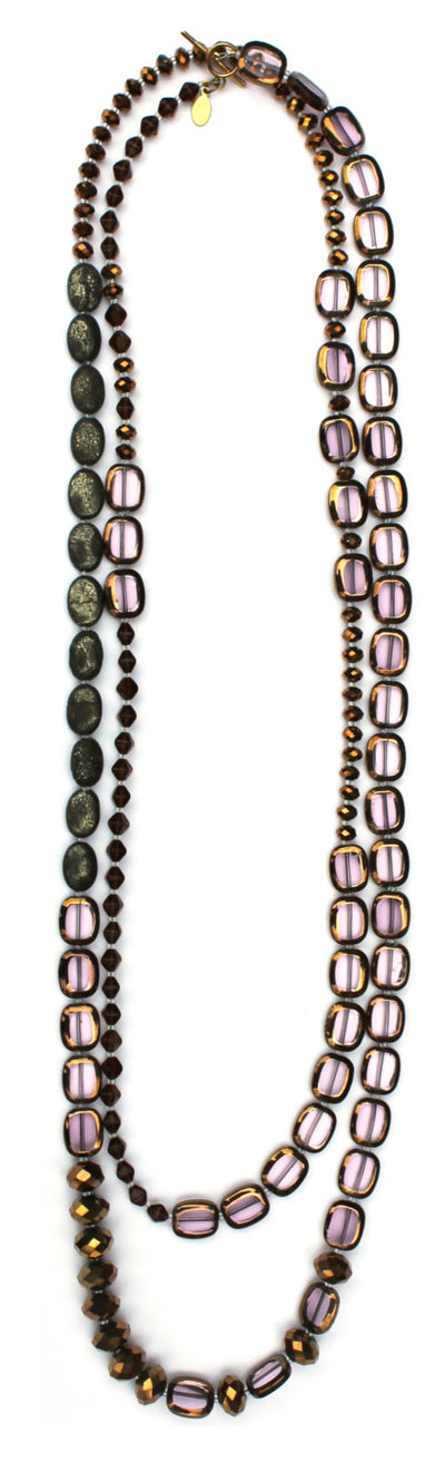 "Stained Glass 60"" Necklace"