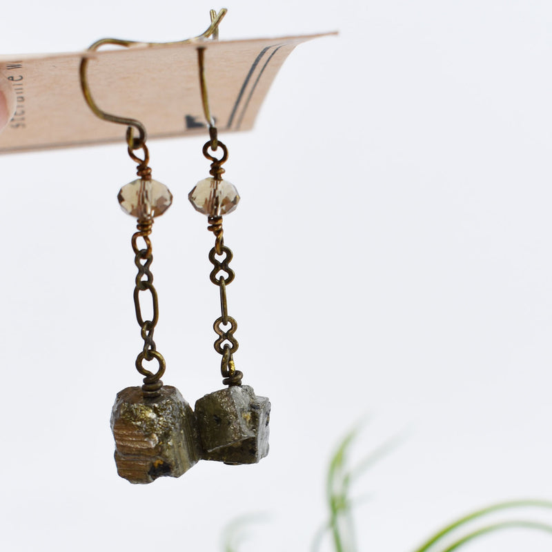Pyrtie Dangle Earrings on Brass