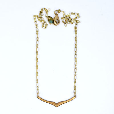 Petite Gold and Brass Necklace