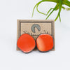 Large Circle Earrings in Coral, Sample Sale