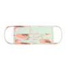 Face Mask, Pleated Light Green & Peach Floral
