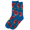 Socks with Autumn Floral, Teal