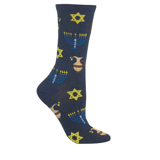 Socks Hanukkah, Denim Blue