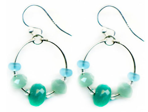 Seaglass Hoop Earrings