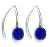 Wishbone Earrings in Cobalt Blue