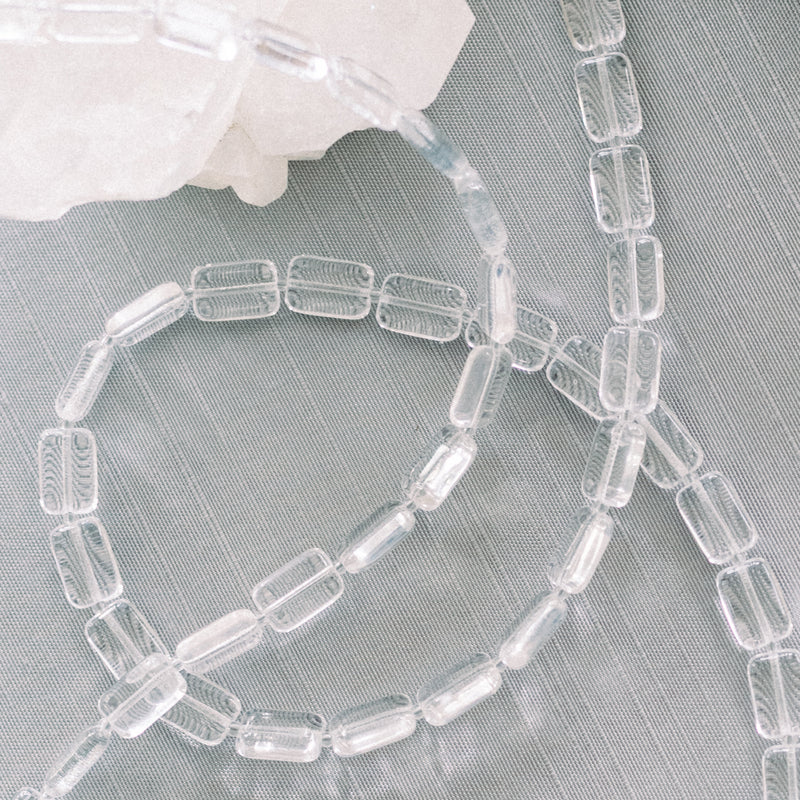 5-Strand Necklace, Trilogy, Crystal Clear Ice Cube