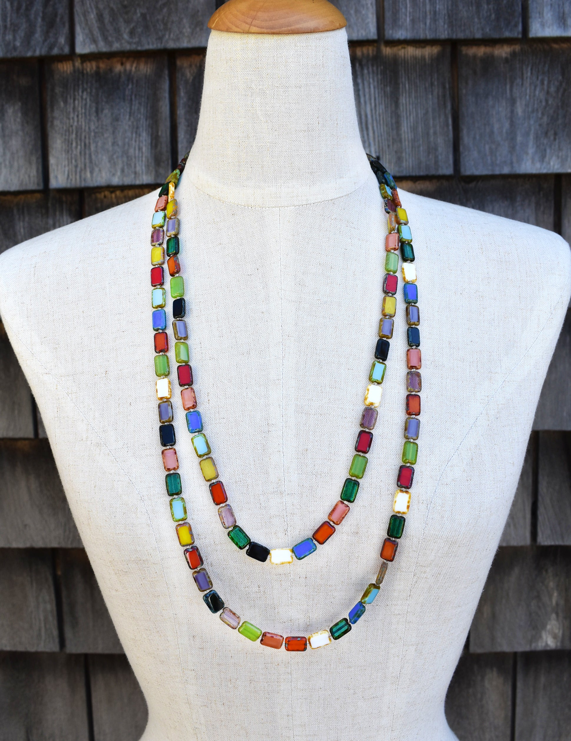 "Sample Sale, 60"" Necklace, Rainbow"