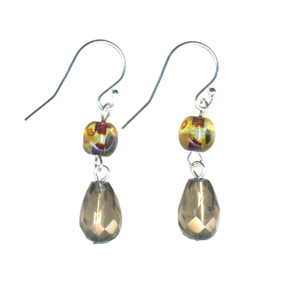 Faceted Smoky Quartz Drop Earrings