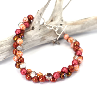 Bubble Bracelet, Red