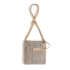 Two Tone Cross Body Bag with Adjustable Strap, Natural